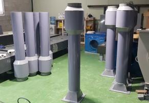 PVC 송풍기 소음기